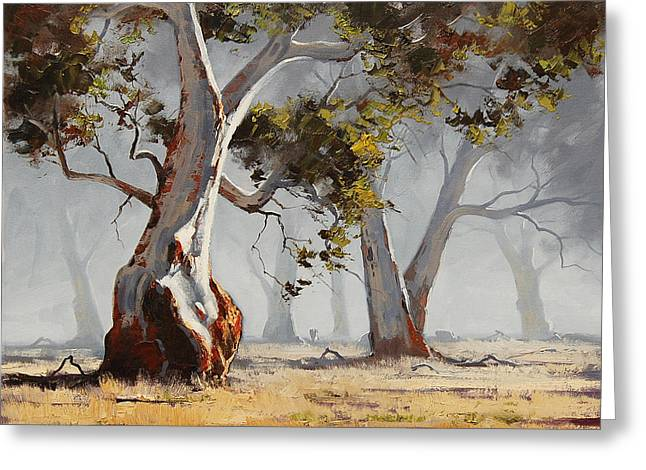 Australian Tree Greeting Cards - Landscape Trees Greeting Card by Graham Gercken