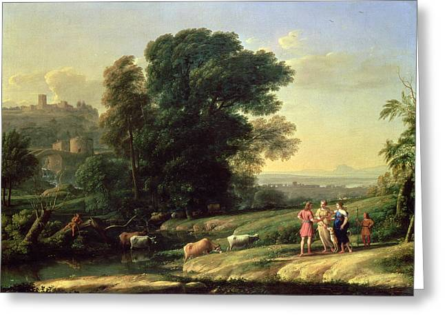 Wife Greeting Cards - Landscape With Cephalus And Procris Reunited By Diana, 1645 Oil On Canvas Greeting Card by Claude Lorrain