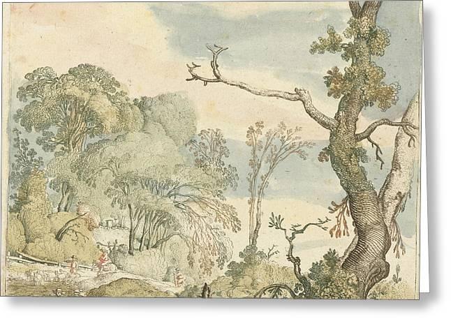 Landscape With Trees, Esaias Van De Velde Greeting Card by Esaias Van De Velde