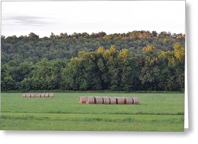 Hay Bales Greeting Cards - Landscapes 122 Greeting Card by Lawrence Hess