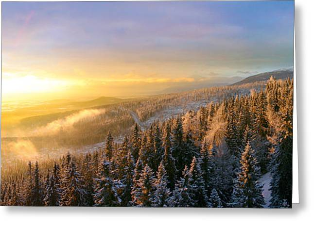 Mystical Landscape Greeting Cards - Landscapes in slovakia Greeting Card by Michel Piccaya