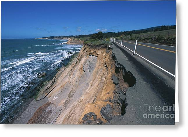 Hazard County Greeting Cards - Landslide Greeting Card by Chris Selby