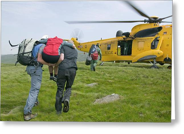 Langdale Ambleside Mountain Rescue Team Greeting Card by Ashley Cooper