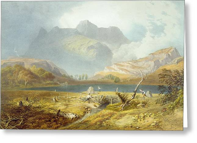 Printed Greeting Cards - Langdale Pikes, From The English Lake Greeting Card by James Baker Pyne