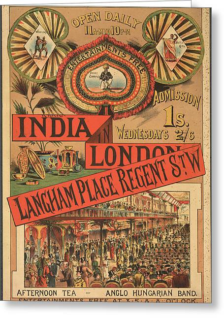 Langham Place Greeting Card by British Library