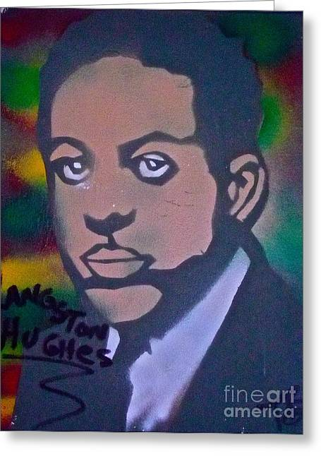 Occupy Greeting Cards - Langston Hughes 2 Greeting Card by Tony B Conscious