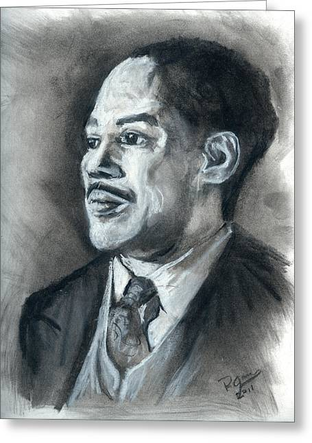Renaissance Pastels Greeting Cards - Langston Hughes Greeting Card by Roger  James