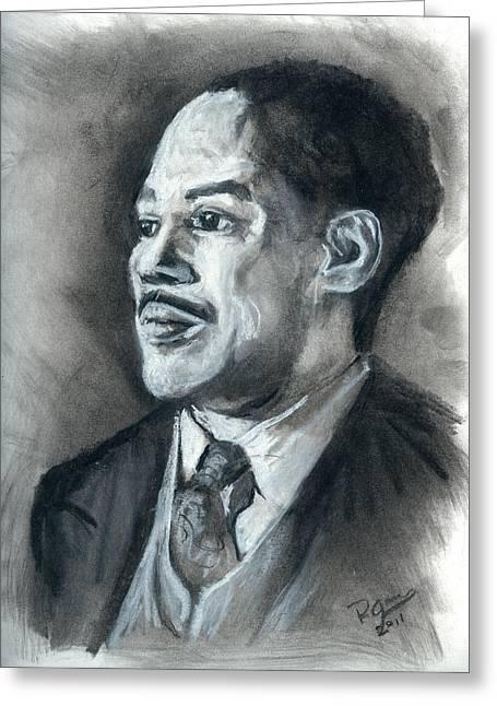Harlem Pastels Greeting Cards - Langston Hughes Greeting Card by Roger  James