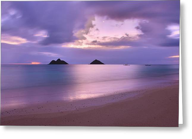 Brianharig Greeting Cards - Lanikai Beach Sunrise 5 - Kailua Oahu Hawaii Greeting Card by Brian Harig