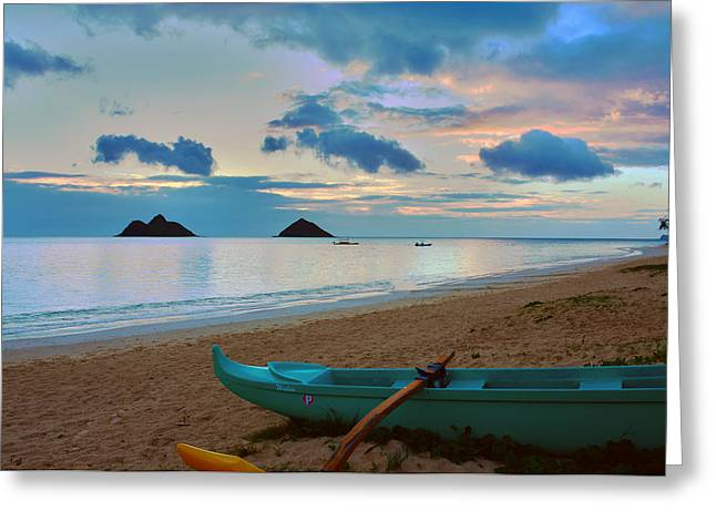 Brianharig Greeting Cards - Lanikai Beach Sunrise 6 - Kailua Oahu Hawaii Greeting Card by Brian Harig