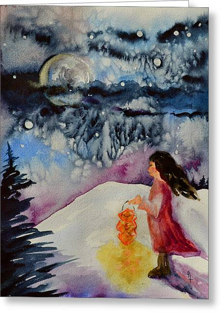 Bht Greeting Cards - Lantern Festival Greeting Card by Beverley Harper Tinsley