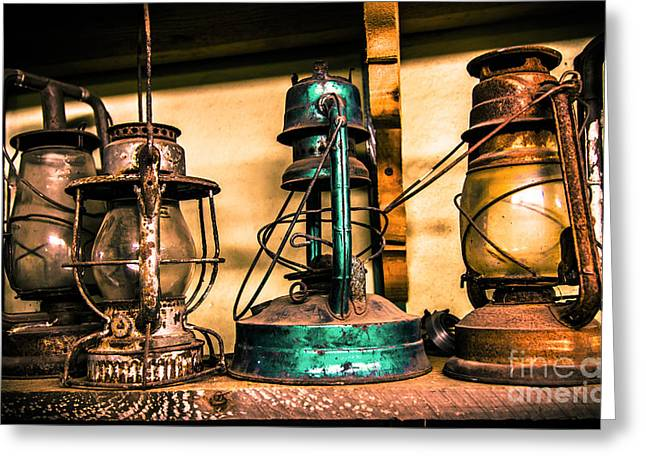 Old Maine Barns Greeting Cards - Lantern Greeting Card by Jeff Auger