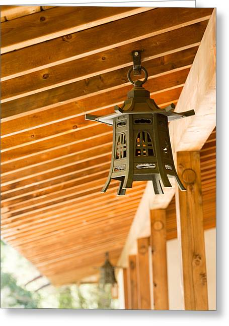 Japanese Photographs Greeting Cards - Lantern Greeting Card by Rebecca Cozart