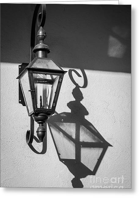 Vieux Carre Greeting Cards - Lantern Reflection Greeting Card by Inge Johnsson