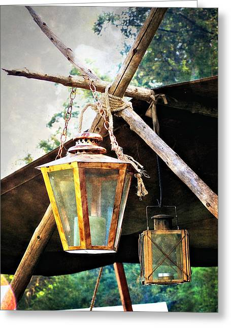 Lanterns Greeting Card by Marty Koch
