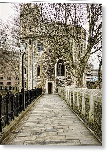 British Royalty Greeting Cards - Lanthorn Tower Greeting Card by Heather Applegate