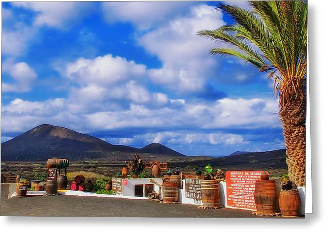 Lanzarote Panorama Greeting Card by Mountain Dreams