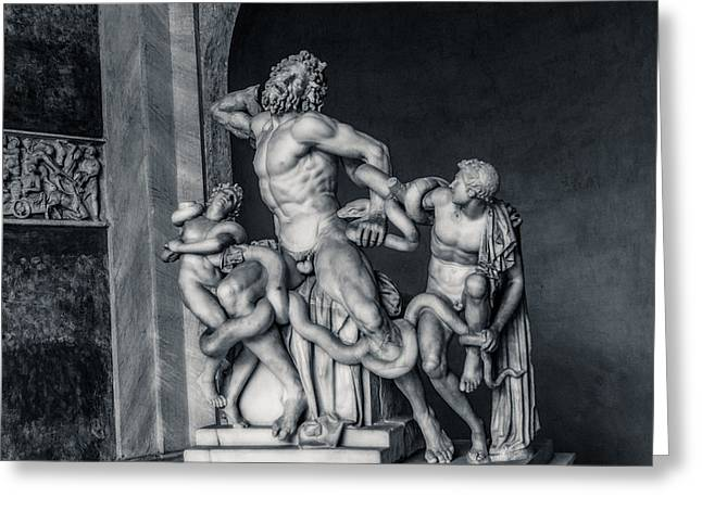 Snake Priest Greeting Cards - Laocoon and His Sons Greeting Card by Andrea Mazzocchetti