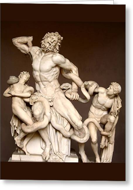 Laocoon And Sons Greeting Card by Ellen Henneke