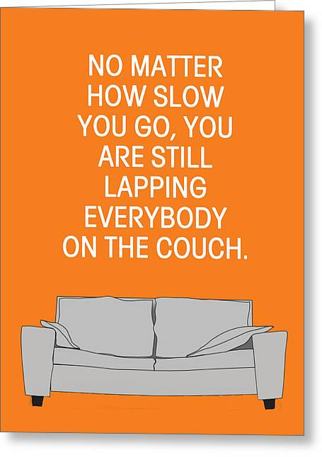 Lapping Greeting Cards - Lap the Couch Greeting Card by Nancy Ingersoll