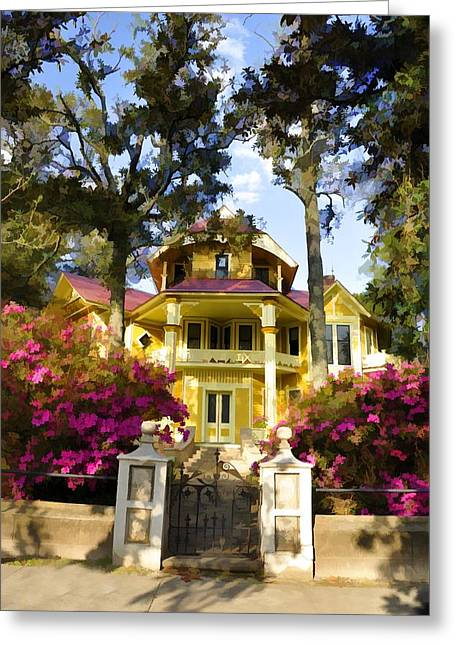 Thomasville Greeting Cards - Lapham-Patterson House II Greeting Card by Jan Amiss Photography
