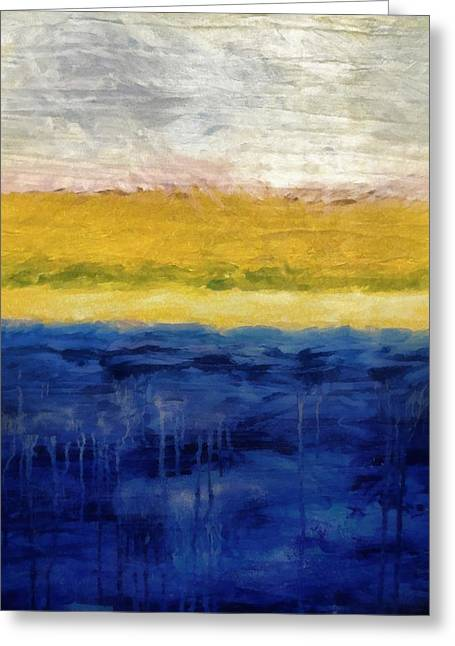 Drip Greeting Cards - Lapis and Gold get Married Greeting Card by Michelle Calkins