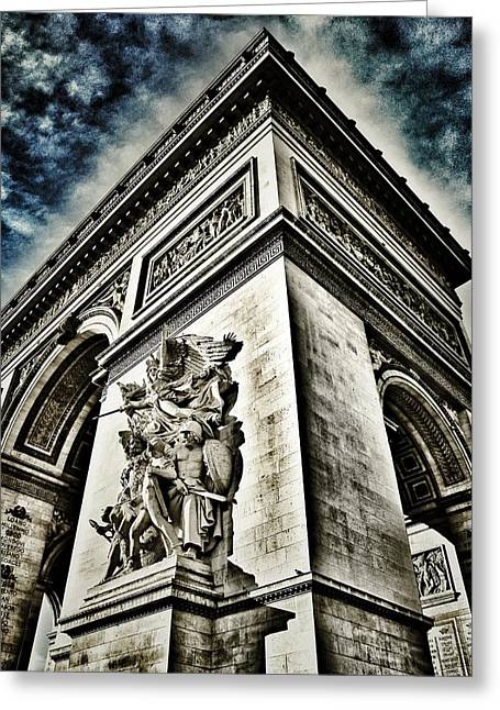 Arc De Triomphe Greeting Cards - LArc de Triomphe - Paris - France  Greeting Card by Marianna Mills