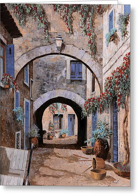 Devil Greeting Cards - Larco Del Diavolo Greeting Card by Guido Borelli