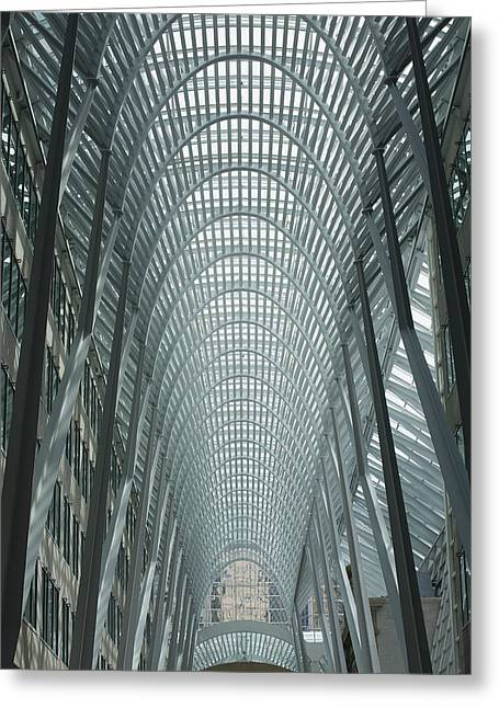 Geometric Image Greeting Cards - Large Arched Glass And Metal Domed Greeting Card by Michael Interisano
