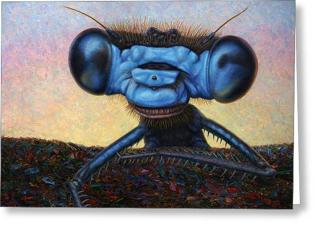 Large Damselfly Greeting Card by James W Johnson