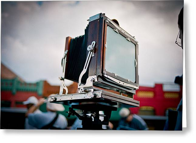 Large Format Greeting Cards - Large Format Film Camera Greeting Card by Linda Unger
