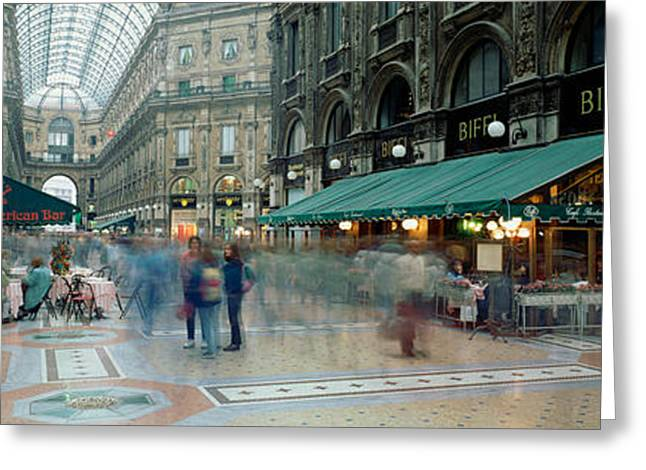 Large Group Of People Greeting Cards - Large Group Of People On The Street Greeting Card by Panoramic Images