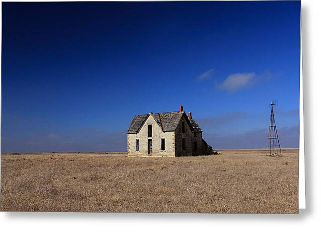Sante Fe Trail Greeting Cards - Large House on the Prairie Greeting Card by Christopher McKenzie
