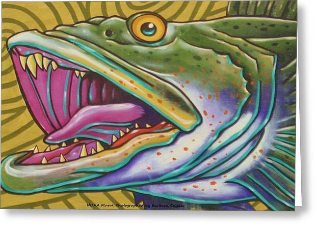 Noaa Greeting Cards - Large Mouth Fish Greeting Card by Unknown