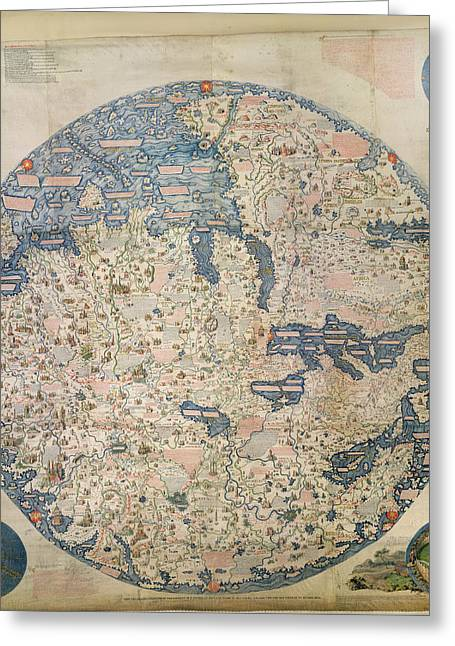 Large Planisphere Greeting Card by British Library