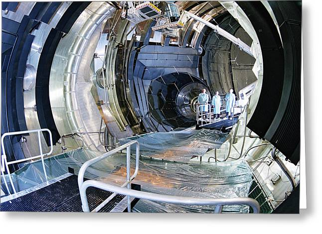 Large Space Simulator Greeting Card by Esa-a. Le Floc'h