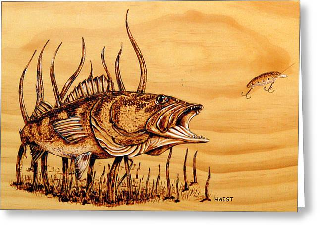 Leasure Greeting Cards - Largemouth Bass Greeting Card by Ron Haist