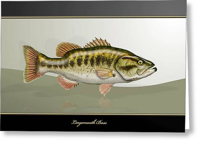 Largemouth Bass Greeting Card by Serge Averbukh