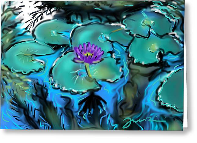 Largo Waterlilies Greeting Card by Jean Pacheco Ravinski