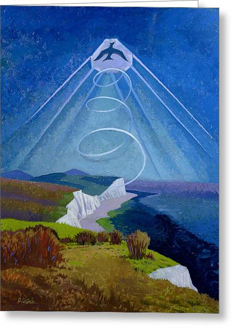 Lark Ascending Greeting Card by Osmund Caine
