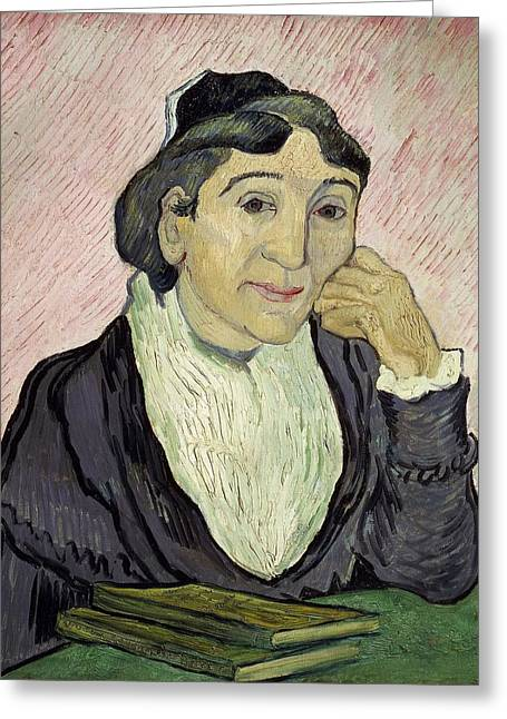 Natural Beauty Paintings Greeting Cards - LArlesienne Madame Ginoux Greeting Card by Vincent van Gogh