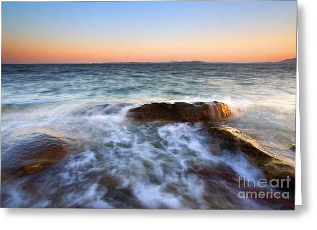 San Juan Greeting Cards - Larrabee Sunset Greeting Card by Mike  Dawson