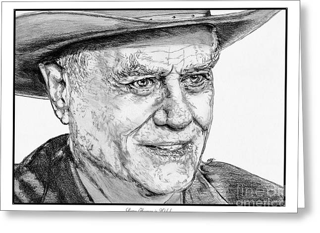Larry Hagman in 2011 Greeting Card by J McCombie