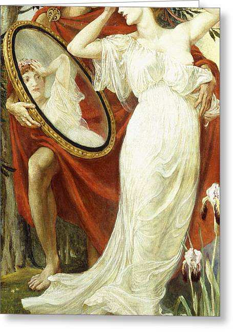 Looking For Love Greeting Cards - LArt et la Vie Greeting Card by Walter Crane