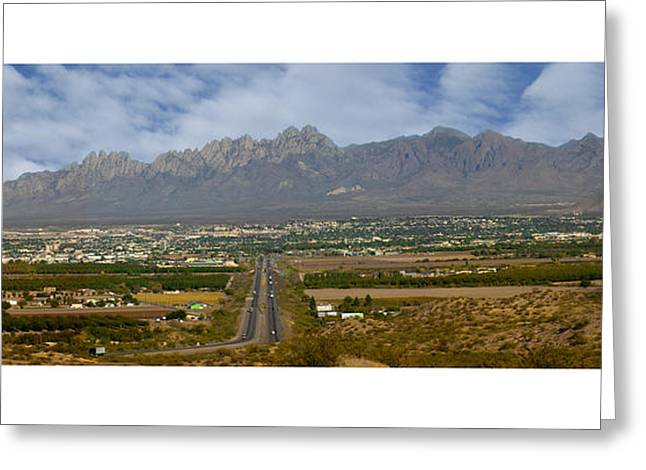 Las Cruces New Mexico Greeting Cards - Las Cruces New Mexico Panorama Greeting Card by Jack Pumphrey