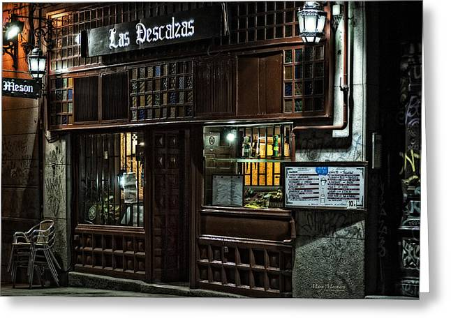Menu Greeting Cards - Las Descalzas - Madrid Greeting Card by Mary Machare