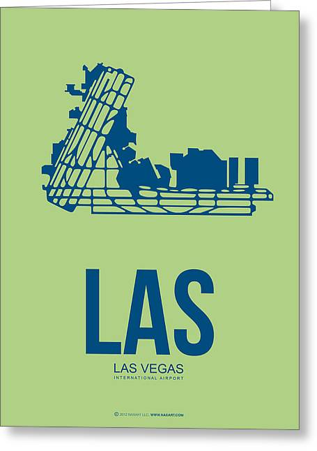 Las Vegas Greeting Cards - LAS Las Vegas Airport Poster 2 Greeting Card by Naxart Studio