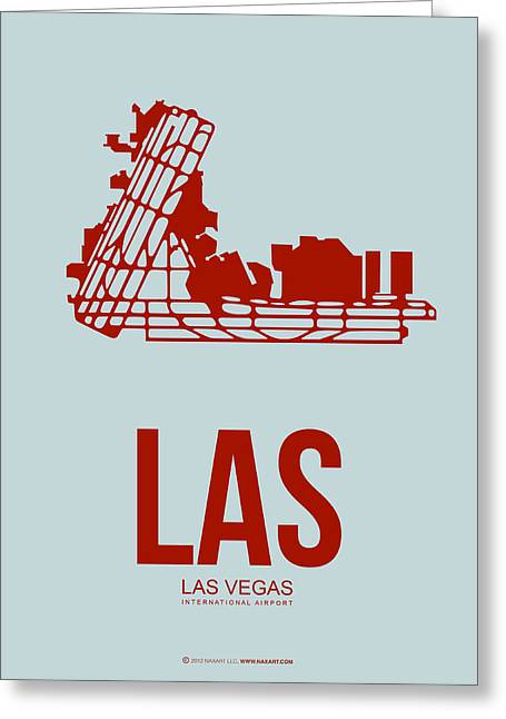 Las Vegas Greeting Cards - LAS Las Vegas Airport Poster 3 Greeting Card by Naxart Studio