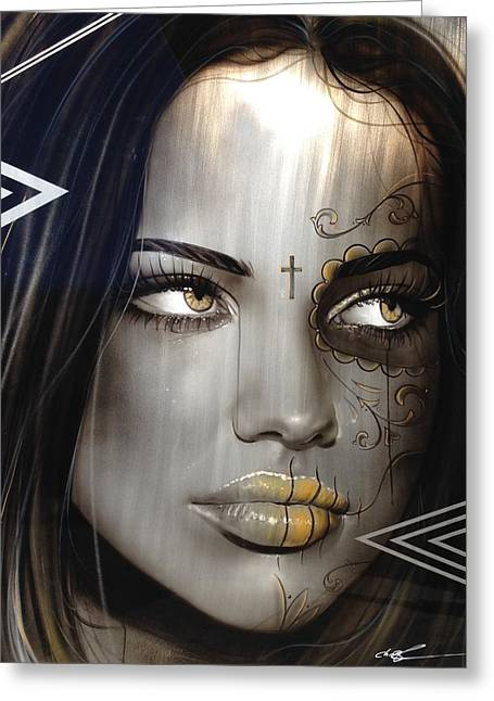 Gothic Greeting Cards - Las Mujeres Espanolas Greeting Card by Christian Chapman Art