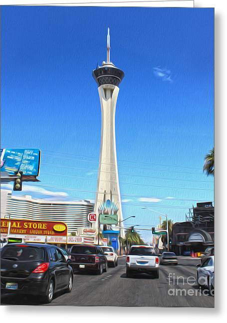 Las Vegas - Stratosphere Greeting Card by Gregory Dyer